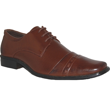 Art of Shoes Siin Men Classic Cap Toe Lace-up Shoe in Dark Brown