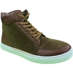 REPUBLIC | KRAZY SHOES ARTISTS MEN'S BROWN SNEAKERS