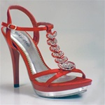T-STRAP SANDAL IN RED