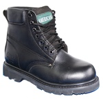 Highest Quality Leather 6 Inch Men's Black Work Boot Rugged Outdoor Shoes