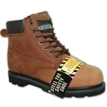 Dark Brown Leather Steel Toe Work Boot