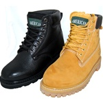 "2 Pairs Combo Deal AMERICAN 6"" Genuine Leather Full Grain Work Boot & Outdoor Shoes for Men Plus Wheat pair"