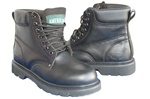 "AMERICAN 6"" Genuine Leather Smooth Black Work Boot & Outdoor Shoes for Men"