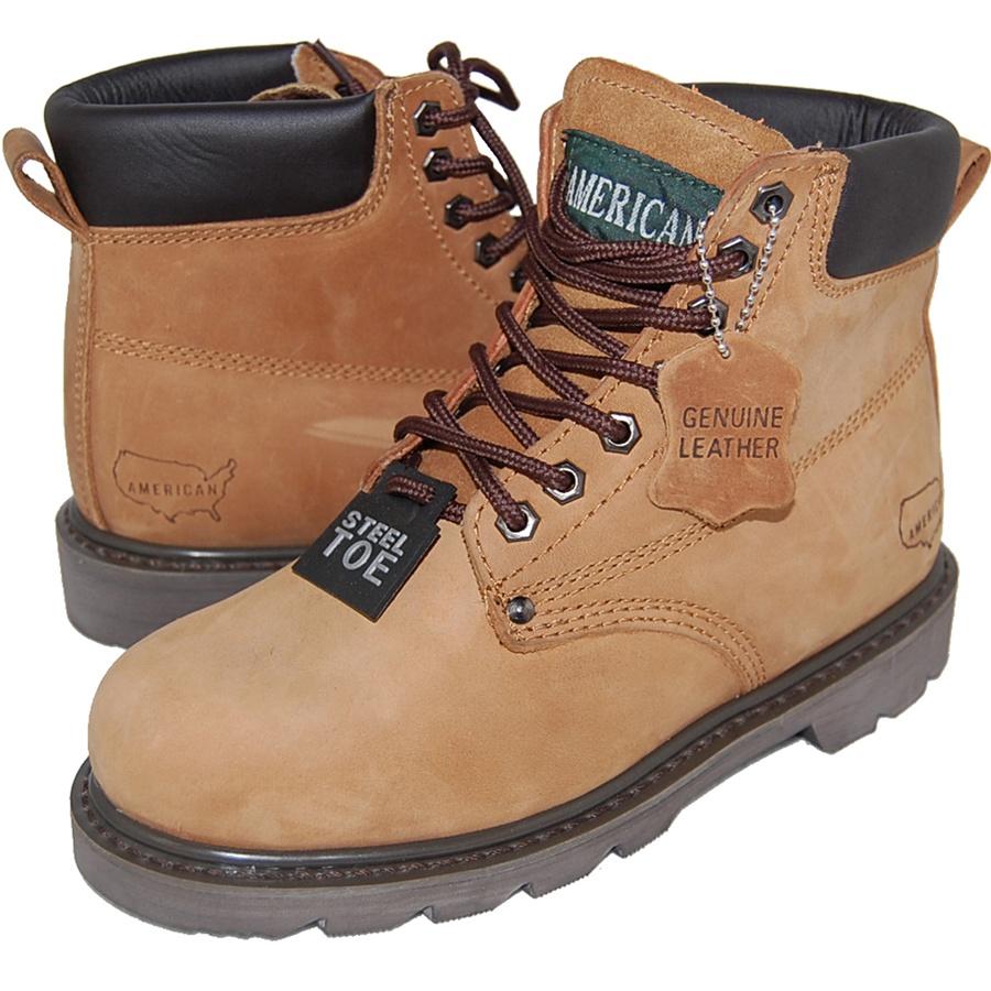 1fe9f6b15ca JACK Genuine Leather Steel Toe Work Boot for Men