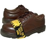 BROWN STEEL TOE LEATHER OXFORD