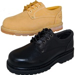 2 Pairs Combo Deal BEST BLACK LEATHER OXFORD  RUGGED Shoe for Men Plus Wheat Pair