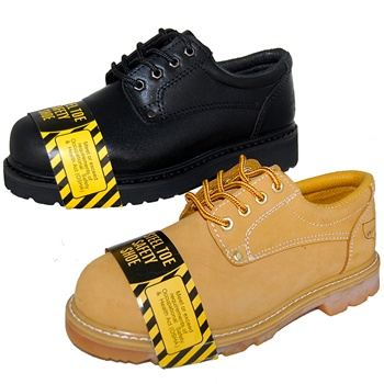 2 Pairs Combo Deal BEST STEEL TOE BLACK LEATHER OXFORD  RUGGED Shoe for Men Plus Wheat Pair