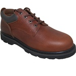 BROWN LEATHER OXFORD  RUGGED SHOE