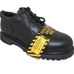 KRAZY SHOE ARTISTS BLACK STEEL TOE LEATHER OXFORD  RUGGED SHOE