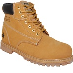 Leather Rugged Outdoor Boot in wheat