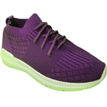 Republic Shoes | Women Lace Up Knit Upper Sock Sneaker