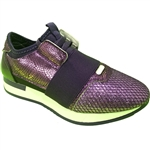 Republic Shoes | Women Shiny Exotic Design Upper Lace Up Fashion Sneaker