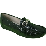 Republic Shoes | Women's Casual Slip On Wedge Loafer with Silver Buckle Decor