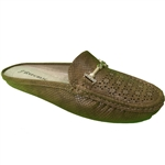 Republic Shoes | Women's Casual Floral Designs Perforation Fashion Slipper with Gold Ornament