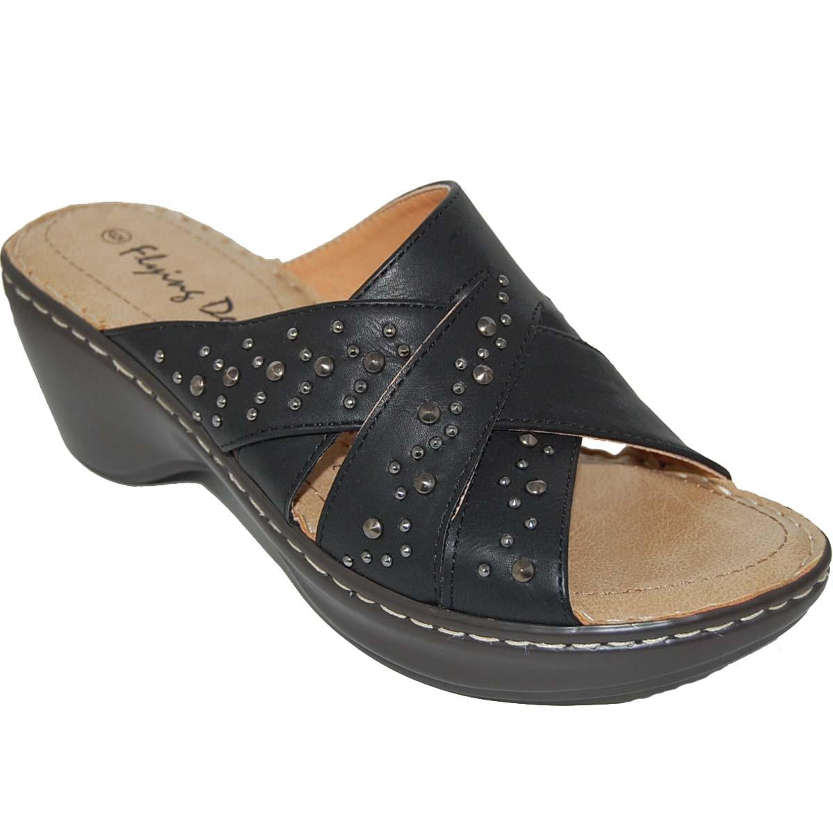 Shoe Factory: DESIGNER SHOE FACTORY HIGH FASHION SLIP-ON SANDALS